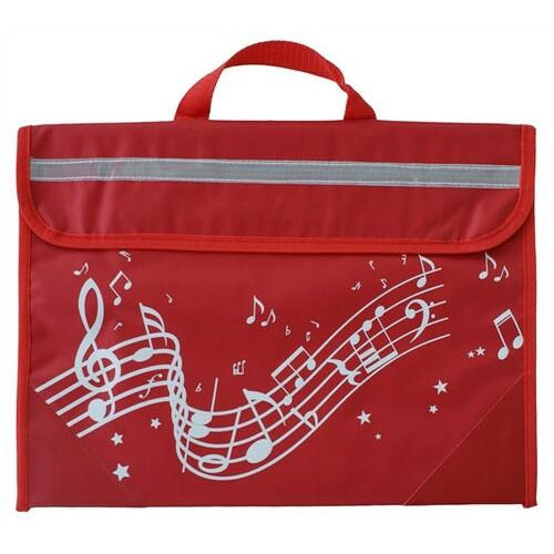 Wavy Stave Music Book Bag