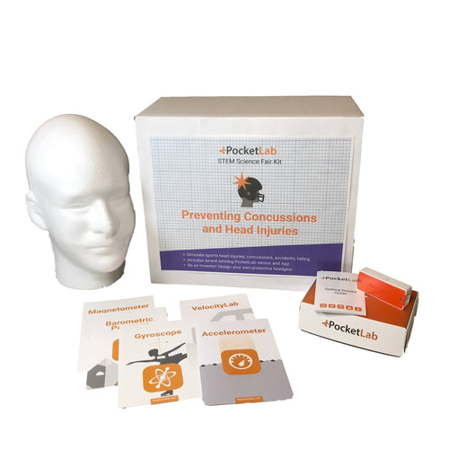 STEM Science Fair Kit: Preventing Concussions and Head Injuries + PocketLab One