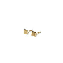 Load image into Gallery viewer, 10K Solid Gold Tiny Earrings | Square Studs | Shape Earrings - A.pair Earrings_contemporary jewelry