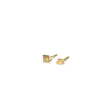 Load image into Gallery viewer, 10K Solid Gold Earrings | Square Diamond Shape Earrings | Mix and Match Earrings - A.pair Earrings_contemporary jewelry