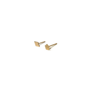 10K Solid Gold Earrings | Diamond Pentagon Shape Earrings | Mix and Match Earrings - A.pair Earrings_contemporary jewelry