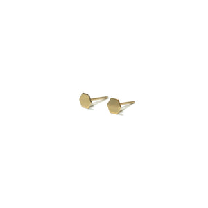 10K Solid Gold Tiny Earrings | Hexagon Studs | Shape Earrings | Small Hexagon Studs - A.pair Earrings_contemporary jewelry