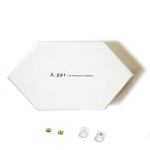 10K Solid Gold Tiny Earrings | Pentagon Studs | Shape Earrings | Small Pentagon Studs - A.pair Earrings_contemporary jewelry