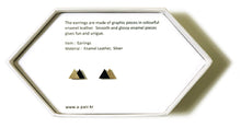 Load image into Gallery viewer, Enamel Leather Earrings _  2 colors _  gold, black - A.pair Earrings_contemporary jewelry