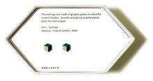 Load image into Gallery viewer, Enamel Leather Earrings _  3,4 colors _  green, ivory, black - A.pair Earrings_contemporary jewelry