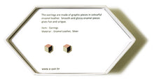 Load image into Gallery viewer, Enamel Leather Earrings _  3,4 colors _  coral, ivory, brown - A.pair Earrings_contemporary jewelry