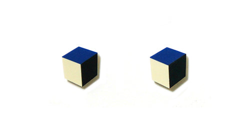 Enamel Leather Earrings _  3,4 colors _  deep blue, ivory, black - A.pair Earrings_contemporary jewelry