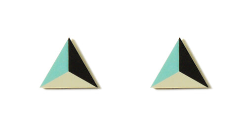 Enamel Leather Earrings _  3,4 colors _  mint, ivory, brown - A.pair Earrings_contemporary jewelry