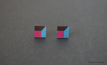 Load image into Gallery viewer, 3D Earrings_ pink, blue, black - A.pair Earrings_contemporary jewelry