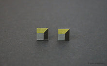 Load image into Gallery viewer, 3D Earrings_ yellow, gray, black - A.pair Earrings_contemporary jewelry
