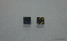 Load image into Gallery viewer, 3D Earrings_ blue, yellow, black - A.pair Earrings_contemporary jewelry