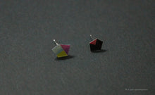 Load image into Gallery viewer, 3D Earrings_ green, ivory, yellow, violet, pink, black - A.pair Earrings_contemporary jewelry
