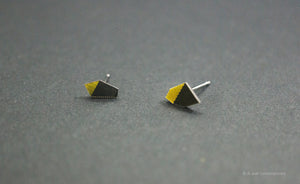 3D Earrings_ gold, black - A.pair Earrings_contemporary jewelry