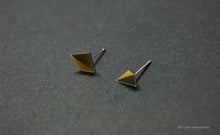 Load image into Gallery viewer, 3D Earrings_ gold, black - A.pair Earrings_contemporary jewelry