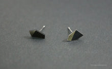 Load image into Gallery viewer, 3D Earrings_ silver, black - A.pair Earrings_contemporary jewelry