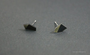 3D Earrings_ silver, black - A.pair Earrings_contemporary jewelry