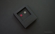 Load image into Gallery viewer, 3D Earrings_ square / square _  pink / silver - A.pair Earrings_contemporary jewelry