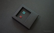 Load image into Gallery viewer, 3D Earrings_ square / square  _  pink / blue - A.pair Earrings_contemporary jewelry