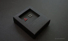 Load image into Gallery viewer, 3D Earrings_ triangle / square _  pink / gray - A.pair Earrings_contemporary jewelry