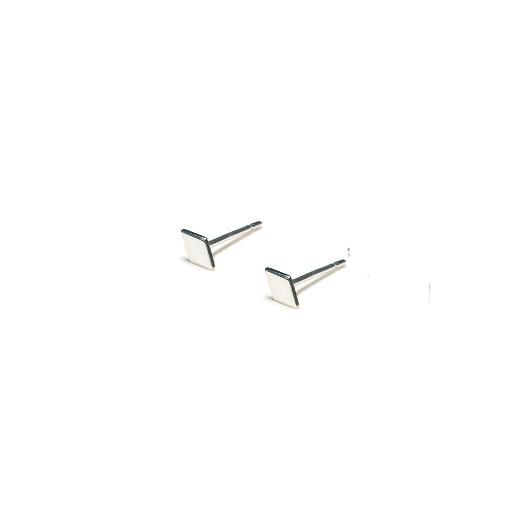 Sterling Silver Earrings | Diamond Shape Earrings | Tiny Silver Studs *Amazon - A.pair Earrings_contemporary jewelry