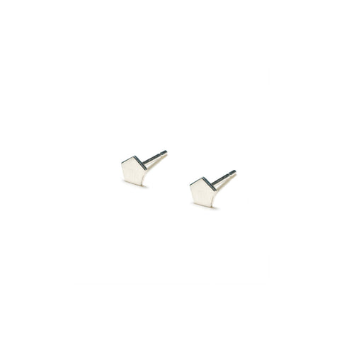 Sterling Silver Earrings | Pentagon Shape Earrings | Tiny Silver Studs *Amazon - A.pair Earrings_contemporary jewelry