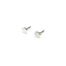 Load image into Gallery viewer, Sterling Silver Earrings | Pentagon Hexagon Shape Earrings | Mismatched Studs *Amazon - A.pair Earrings_contemporary jewelry