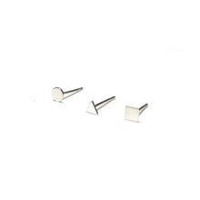 Load image into Gallery viewer, Sterling Silver Earrings | Circle Triangle Square Earrings | Mismatched Studs *Amazon - A.pair Earrings_contemporary jewelry