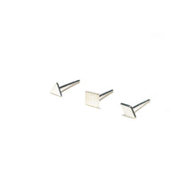 Load image into Gallery viewer, Sterling Silver Earrings | Triangle Square Diamond Shape Earrings | Mismatched Studs *Amazon - A.pair Earrings_contemporary jewelry