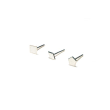 Load image into Gallery viewer, Sterling Silver Earrings | Square Diamond Pentagon Shape Earrings | Mismatched Studs *Amazon - A.pair Earrings_contemporary jewelry