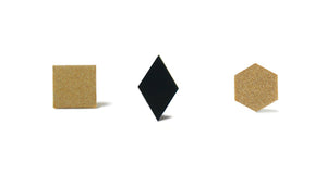 Enamel Leather Earrings _  set of 3 _  square / diamond / hexagon - A.pair Earrings_contemporary jewelry