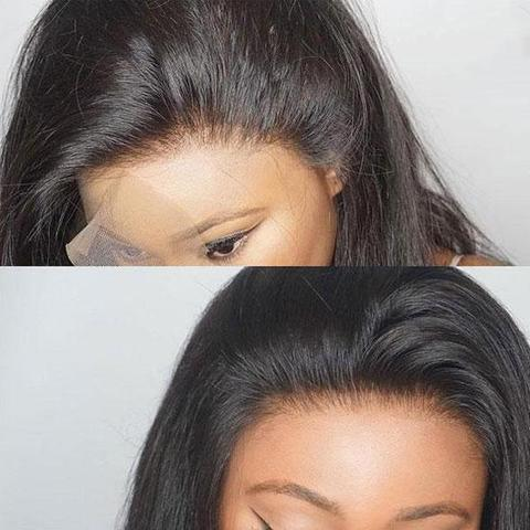 2019 Summer New Straight Full Lace Pre Plucked With Baby Hair