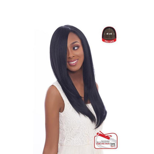4X4 MULTI PARTING LACE WIG, SWISS SILK BASE LACE NATURAL STRAIGHT
