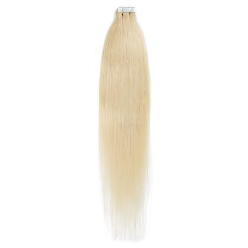 20PCS STRAIGHT TAPE IN HAIR EXTENSIONS(#24 BLONDE)—100% HUMAN HAIR