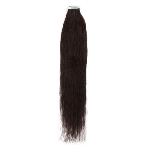 20PCS STRAIGHT TAPE IN HAIR EXTENSIONS(#2 DARK BROWN)—100% HUMAN HAIR