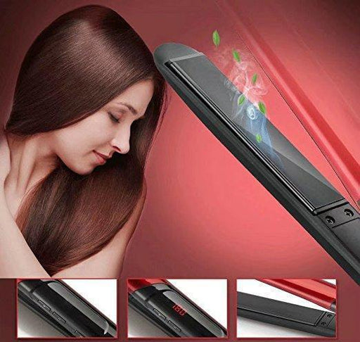 SALON PROFESSIONAL STEAM HAIR STRAIGHTENER CURLER