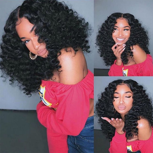 2019 New Listing Natural Curly Short Wig Full Lace Deep Wig