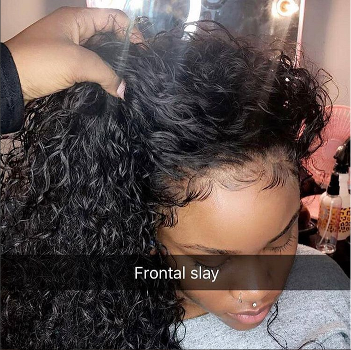 2019 Spring new Virgin Hair Lux Water Wave with Lace Frontal