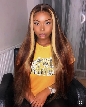 Brazilian Virgin Straight Human Hair Lace Front Wigs With Baby Hair Pre-plucked Hairline