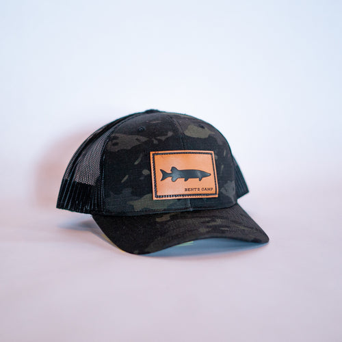 Black Camo Musky Patch Hat