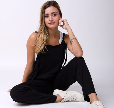 jersey dungaree jumpsuit