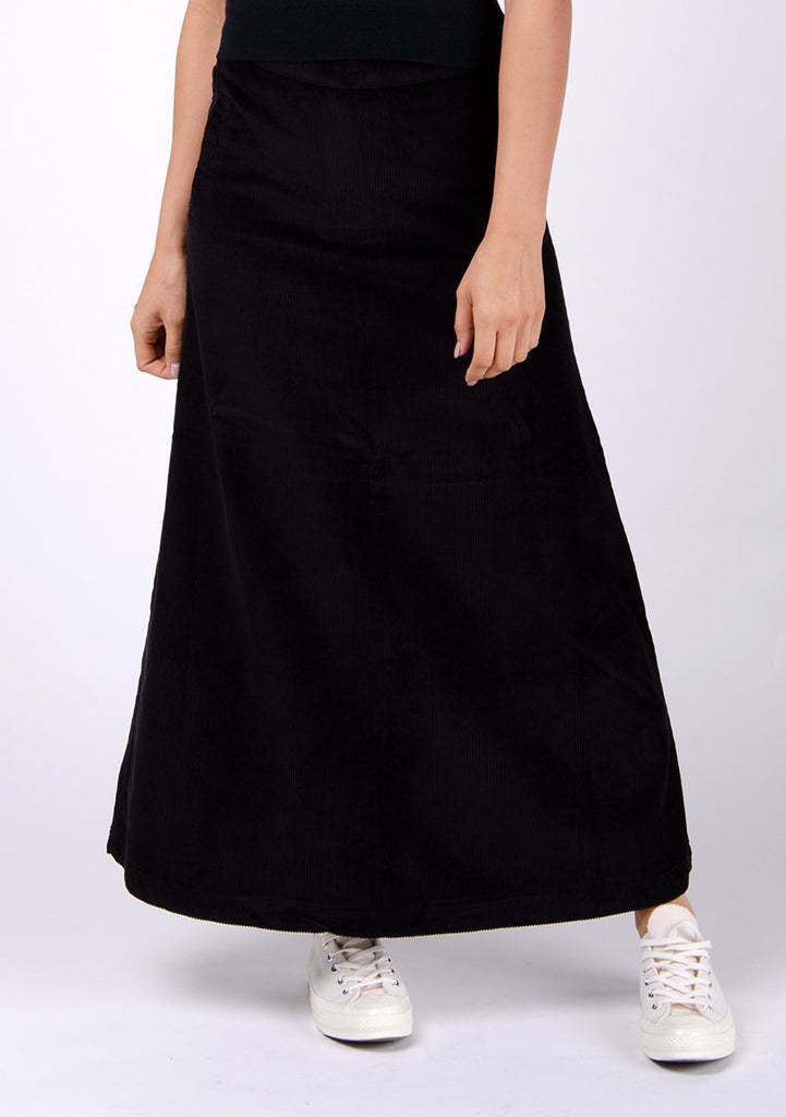 Close-up frontal of pure cotton Lottie style skirt with mock pockets detailing.