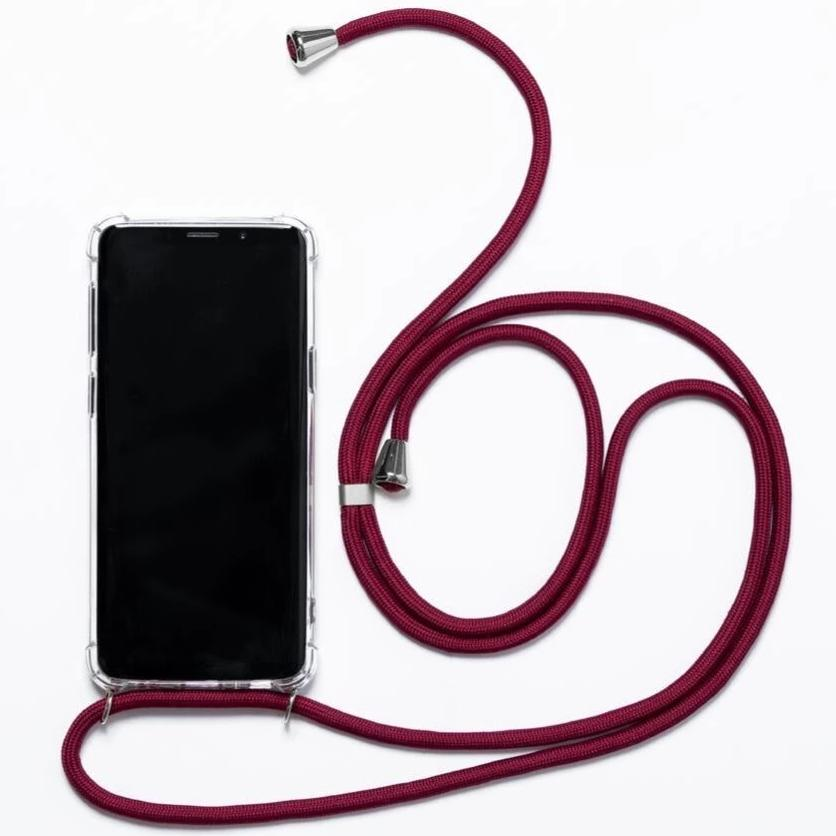 stylish Smartphone Necklace dark red. Keep your hands free. Handsfree. protect your phone. protective cover