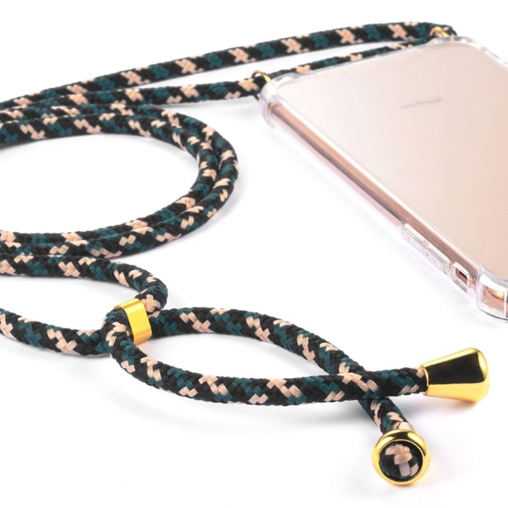 stylish Smartphone Necklace camo green. Keep your hands free. Handsfree. protect your phone. protective cover