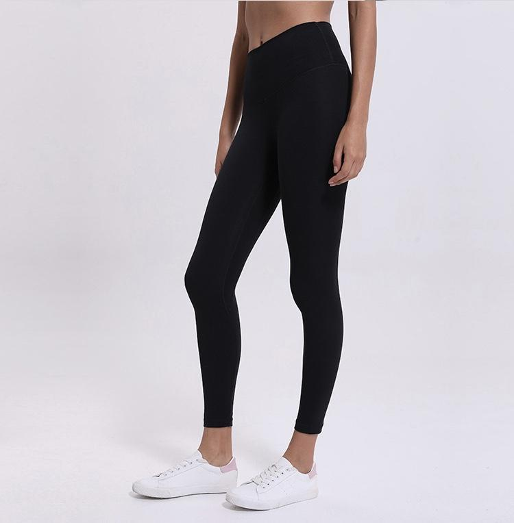 Black Rythm High Waist Leggings Yoga Pants Mindfulness-HOP Black 2-xxs
