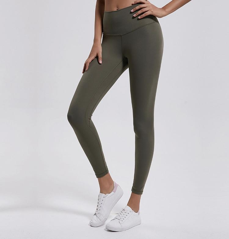 army green High Waist Leggings New Colours Yoga Pants Mindfulness-HOP army green 2-xxs