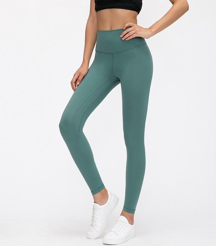Moss Green High Waist Leggings New Colours Yoga Pants Mindfulness-HOP Moss Green 2-xxs