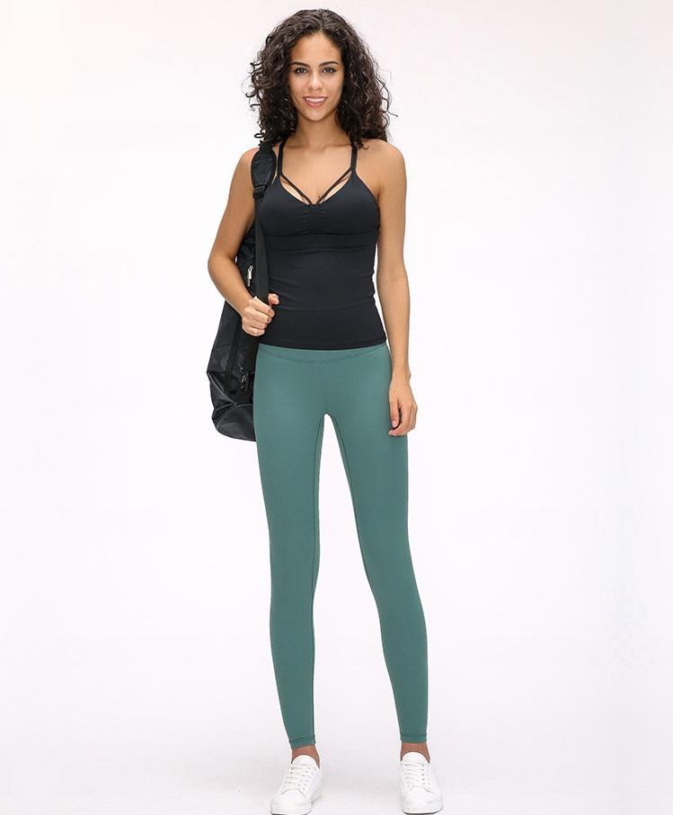 Moss Green High Waist Leggings New Colours Yoga Pants Mindfulness-HOP