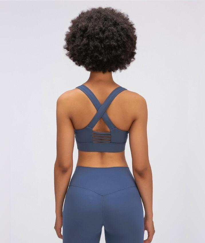blue Power Sports Bra bras Mindfulness-HOP cowboy blue S-06