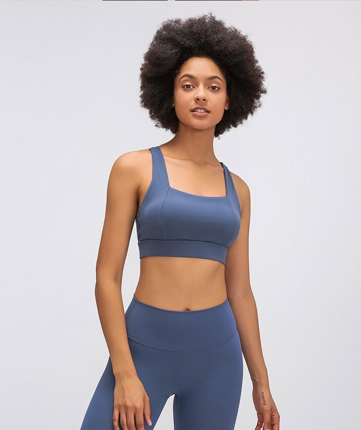 blue Power Sports Bra bras Mindfulness-HOP