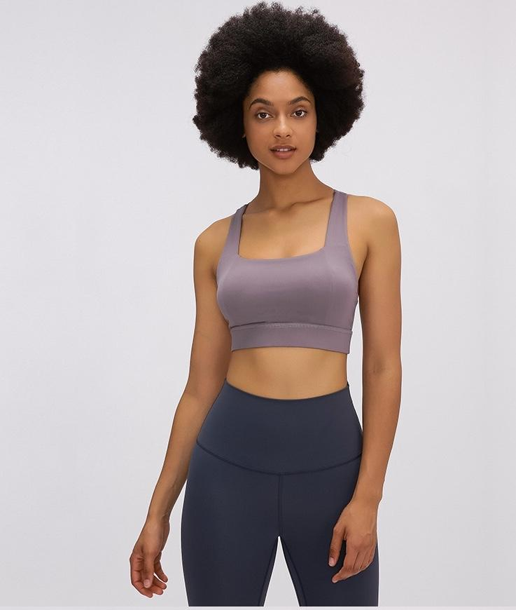 brown Power Sports Bra bras Mindfulness-HOP